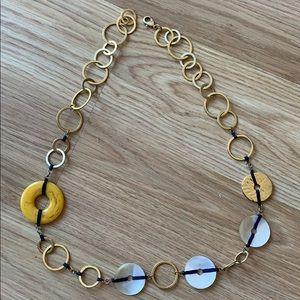 Banana Republican sea shell gold yellow necklace